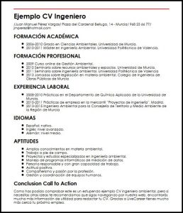Curriculum de Ingeniero Ambiental: