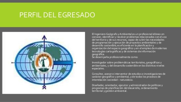 Ingeniero geografo ambiental: